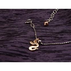 Cavigliera in argento con serpente
