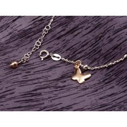 Cavigliera in argento con farfalla