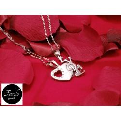 Ciondolo Sigilli d'Amore LOVE e CUORE che si dividono. San Valentino