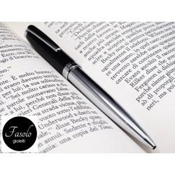 Penna BIRO in metallo cromato e lacca nera. Vendita on line. Fasolo Gioielli Torino. Idea regalo uomo.