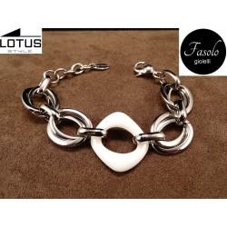 Bracciale in acciaio e CERAMICA. Lotus Style. Fasolo Gioielli Torino. Vendita online