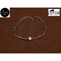 Bracciale in acciaio e cristalli Lotus Style. Fasolo Gioielli Torino