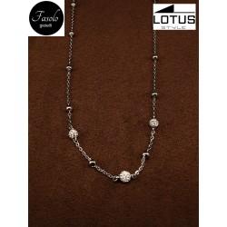 Girocollo in acciaio e cristalli Lotus Style. Fasolo Gioielli a Torino