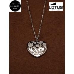 Collana in acciaio e madreperla Lotus Style. Fasolo Gioielli a Torino