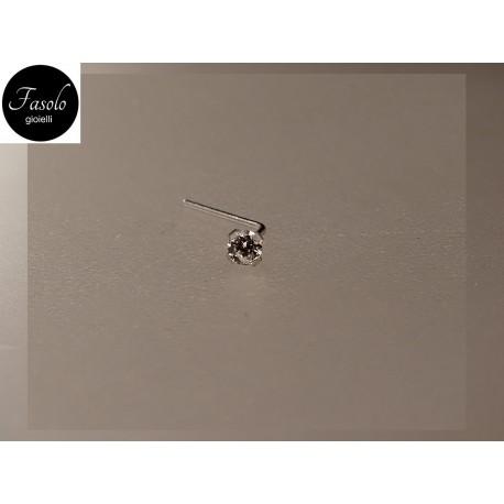 ORO bianco e zircone-montatura GRIFFATA - Fasolo Gioielli Torino