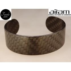 Bracciale in carbonio - altezza 2,5 cm. - Python