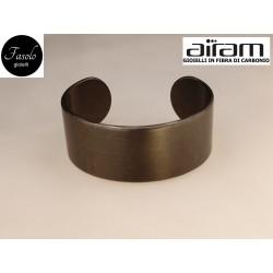 Bracciale in carbonio - altezza 2,5 cm. - Silk