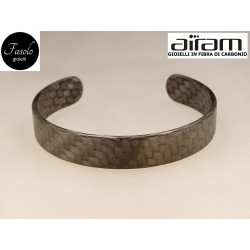 Bracciale in carbonio - altezza 1,5 cm. - Python - Fasolo Gioielli Torino