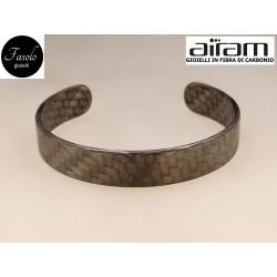 Bracciale in carbonio - altezza 1,5 cm. - Python