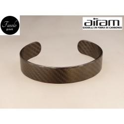 Bracciale in carbonio - altezza 1,5 cm. - Fibra Fine - Fasolo Gioielli Torino