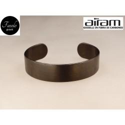 Bracciale in carbonio - altezza 1,5 cm. - Silk