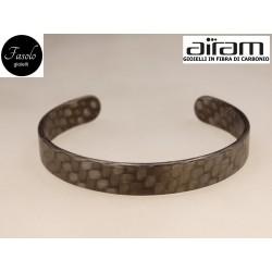 Bracciale in carbonio - altezza 1 cm. - Python