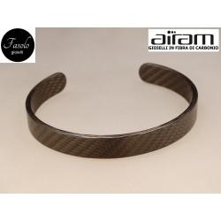 Bracciale in carbonio - altezza 1 cm. - Fibra Fine - Fasolo Gioielli Torino