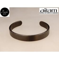 Bracciale in carbonio - altezza 1 cm. - Silk