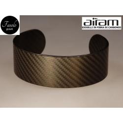 Bracciale in carbonio - altezza 2,5 cm. - Fibra Fine - Fasolo Gioielli Torino