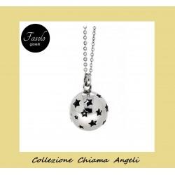 Collana Chiama Angeli traforata con stelle