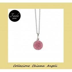 Collana Chiama Angeli strass rosa