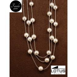 Collana multifilo con perle