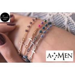 AMEN - Bracciale rosario in argento - Fasolo Gioielli Torino